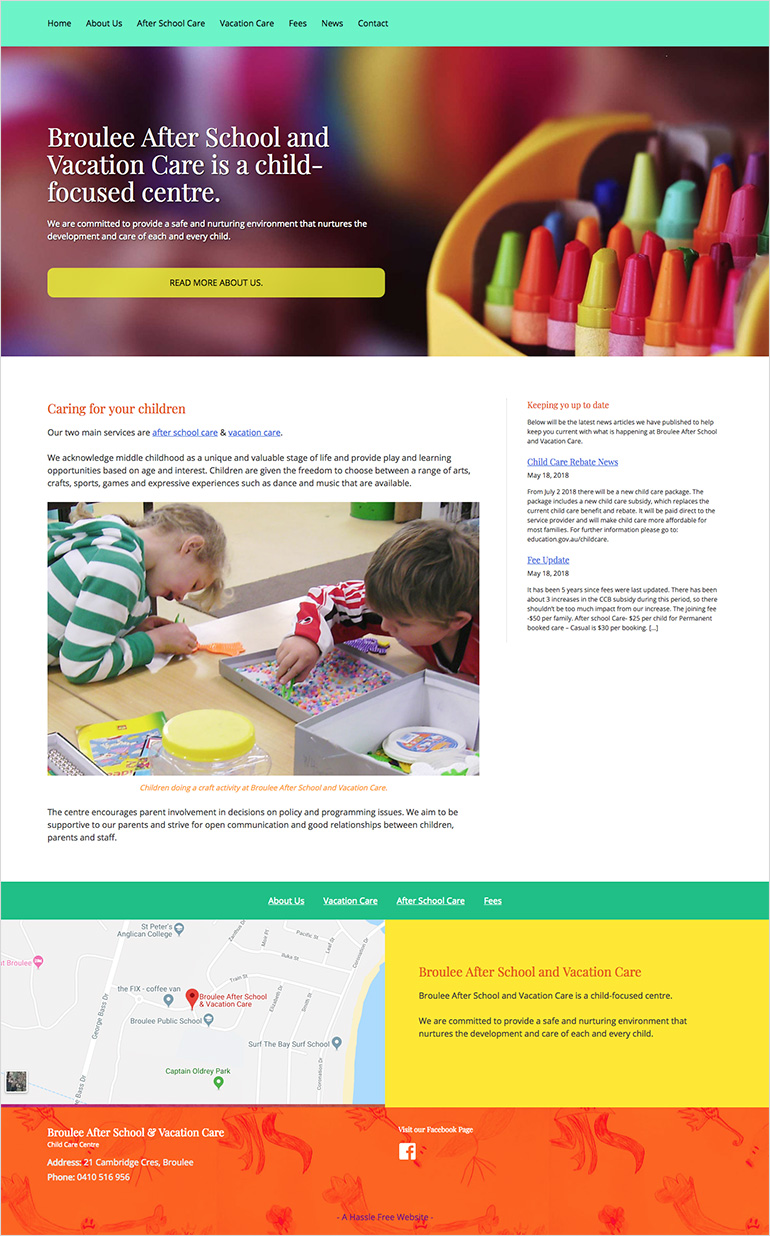 afterschool care website