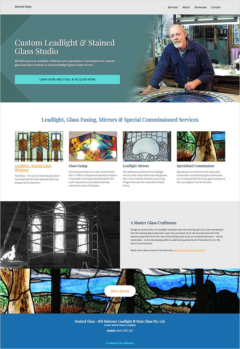 glass website