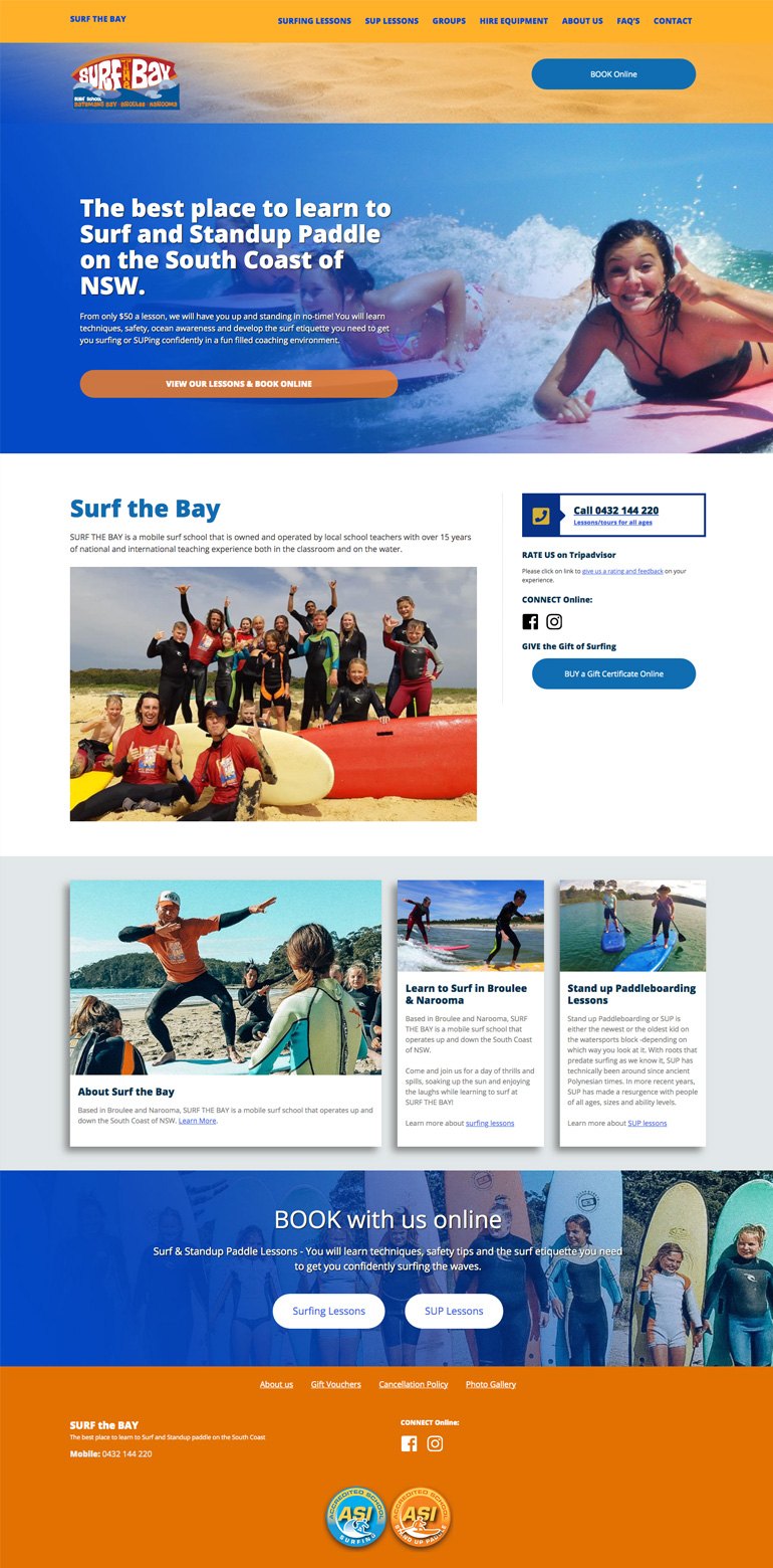 surf the bay website